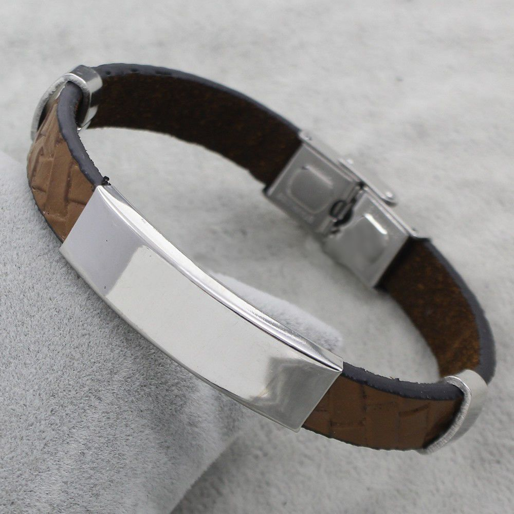 KAYA Personalized Stainless Steel Bracelet 'Cool Gray' - Copy