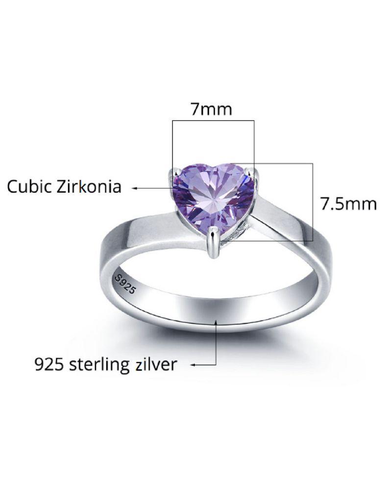 juwelier Geboortesteenring ´Cute Heart´ met gravure