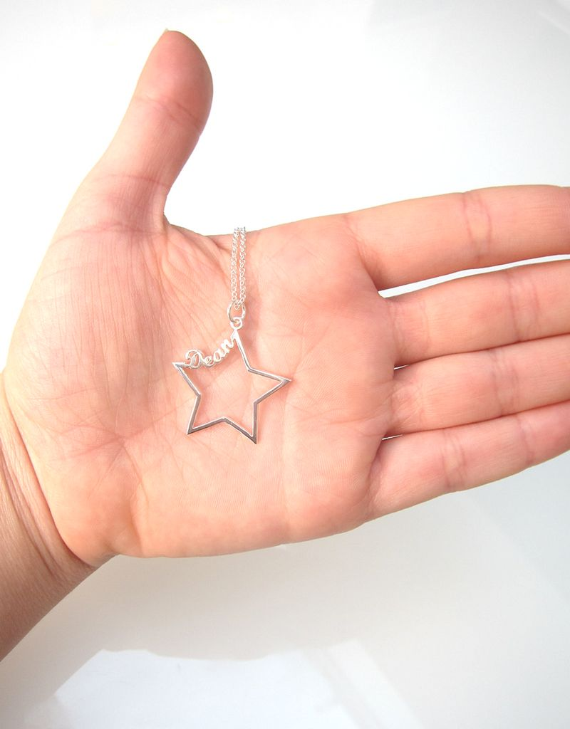 Gepersonaliseerd Zilveren ketting 'Written in the Stars' met naam