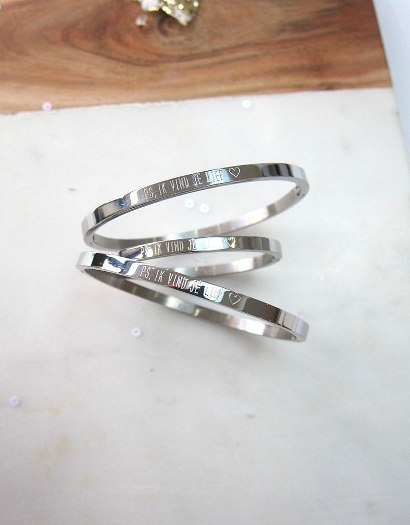 KAYA Drie generatie armbanden set 'ps, ik vind je lief ♡'