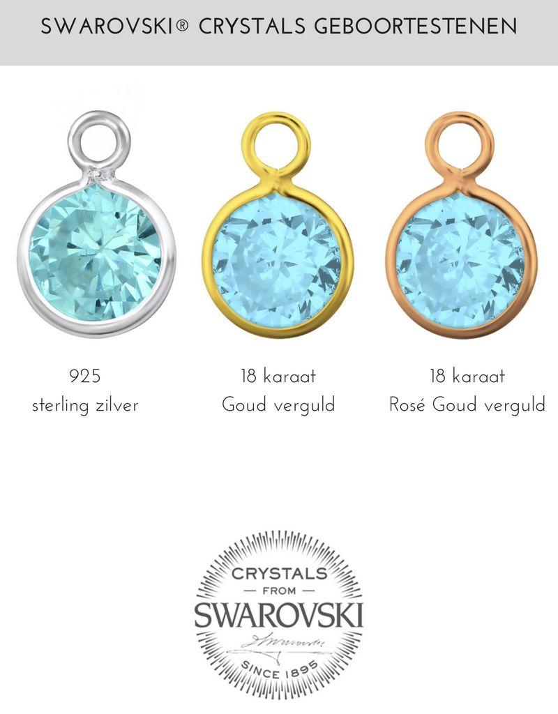 Zilveren Swarovski® Geboortesteen
