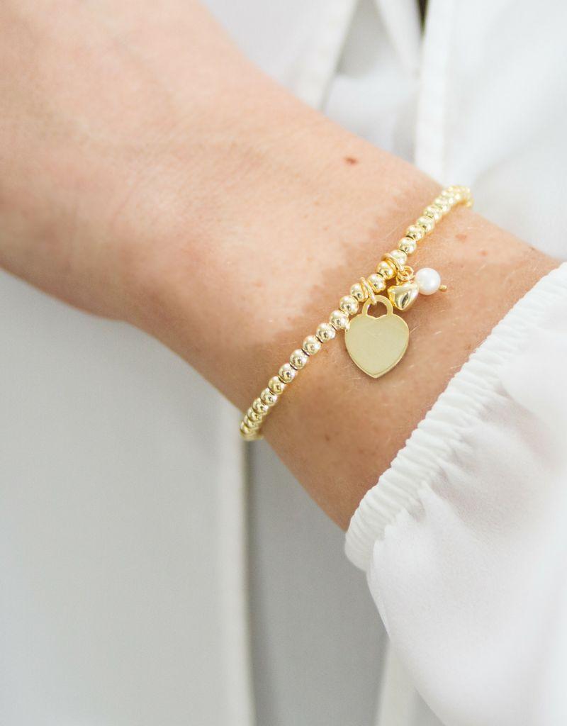 KAYA Zilveren armbanden set 'Cute Balls'