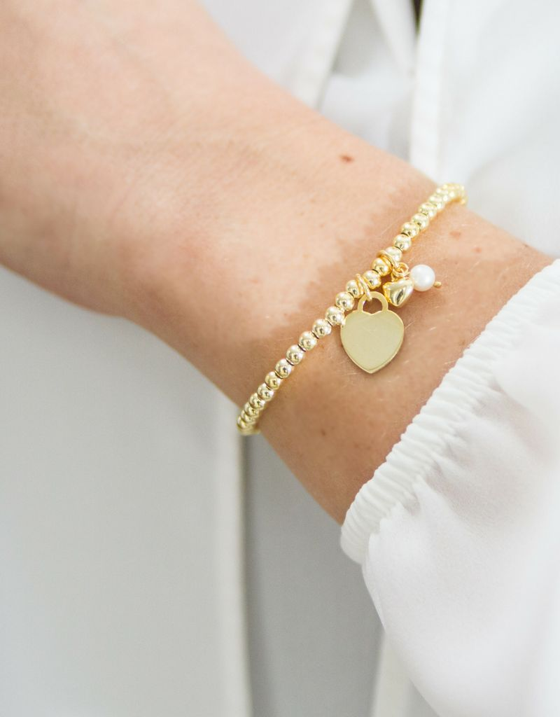Silver bracelets set 'Cute Balls' for mother and daughter - Copy