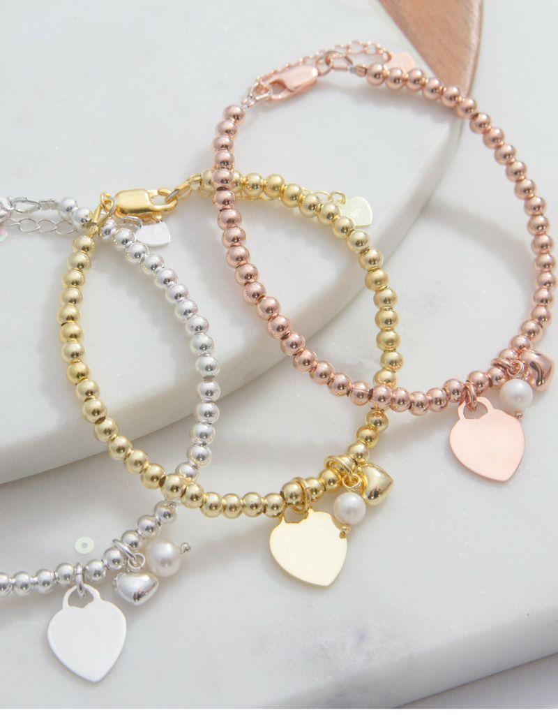 KAYA 3 Silver Bracelets 'Personalize'