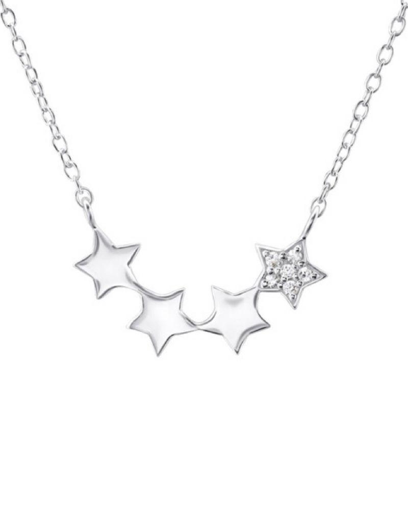 Gepersonaliseerd zilveren kettinkje 'stars'