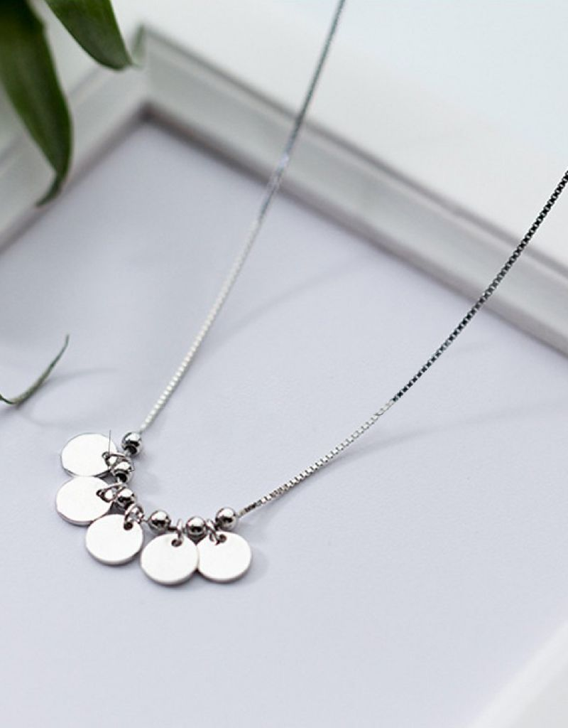 KAYA Personalized silver necklace 'dice' - Copy