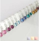KAYA sieraden SWAROVSKI® Birth Crystal Earrings1 (Silver)