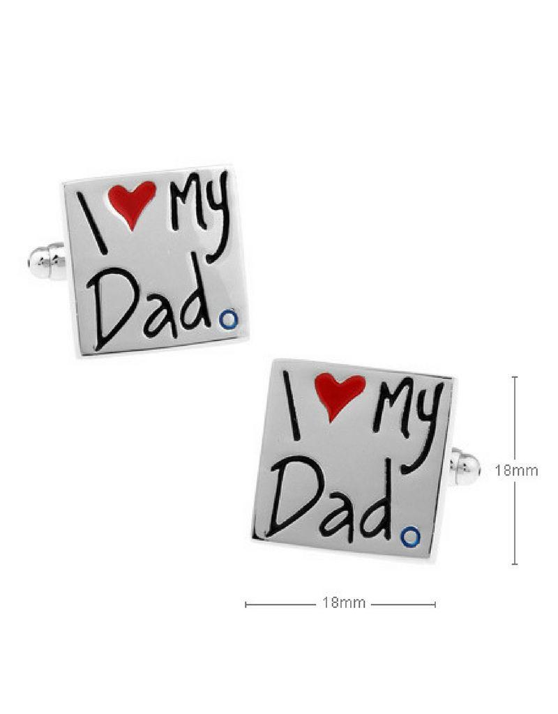 KAYA sieraden ★ SALE ★ Manchetknopen 'I ♡ my Dad'