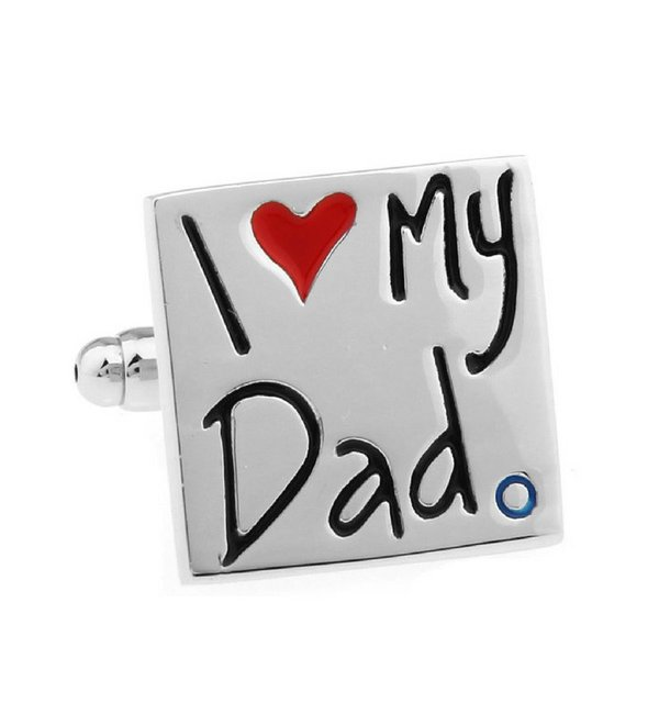 KAYA sieraden Manchetknopen 'I ♡ my Dad'