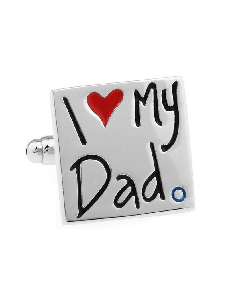 KAYA ★ SALE ★ Manchetknopen 'I ♡ my Dad'
