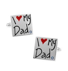Manchetknopen 'I ♡ my Dad'