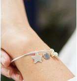 KAYA sieraden Zilveren slavenarmband 'Stel Zelf Samen'