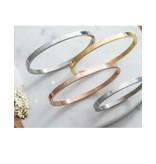 KAYA sieraden Set van 2 bangles met tekst 'ps, ik vind je lief ♡'