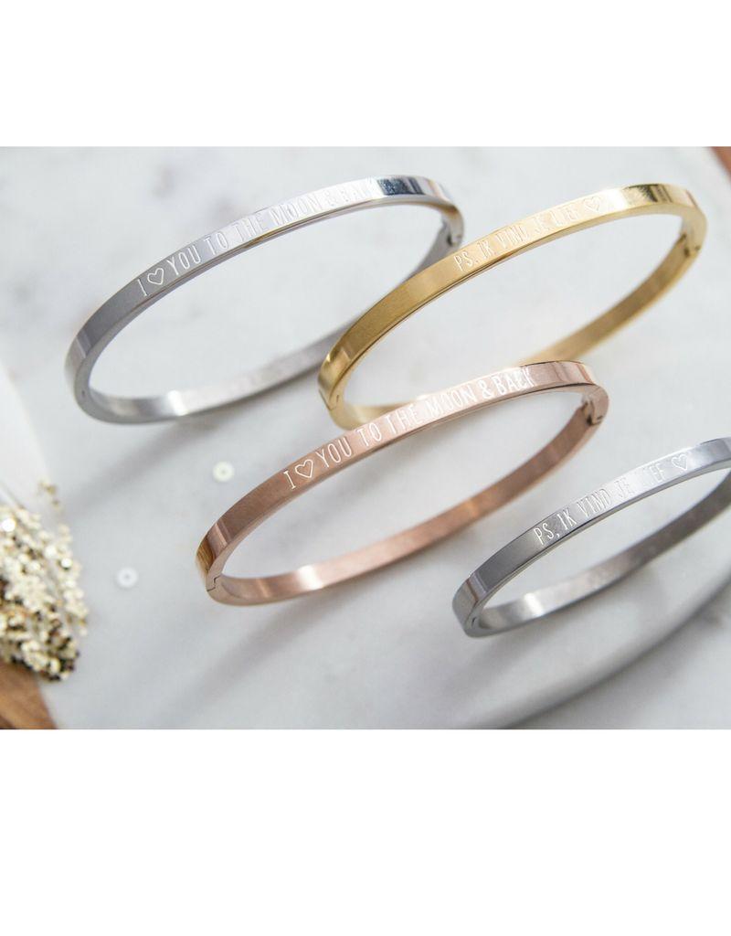Drie generatie armbanden set 'ps, ik vind je lief ♡'