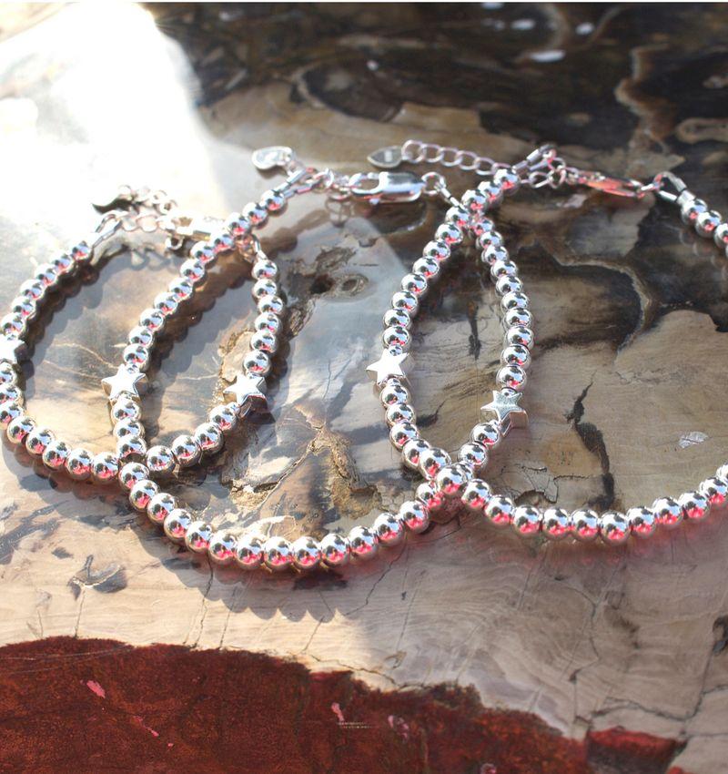 Three generation bracelets set 'cute balls' - with 2 stars