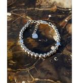 Zilveren armband 'Cute Balls' - met 2 sterren