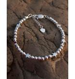 KAYA sieraden Zilveren armband 'Cute Balls' - sterren