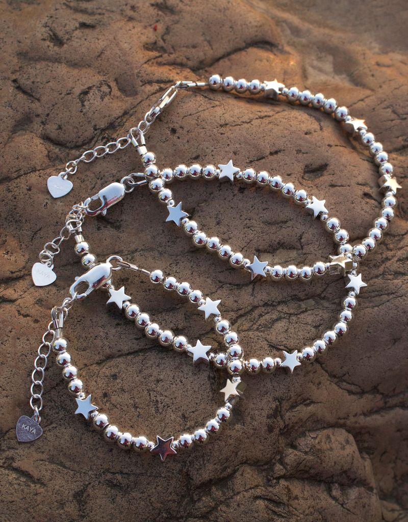 KAYA sieraden Three generation bracelets set 'cute balls' - with 2 stars - Copy