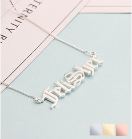 Gegraveerde sieraden Name Necklace 'Claudia' in the name of your choice - Copy