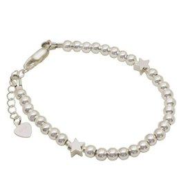 KAYA sieraden Zilveren armband 2 sterren