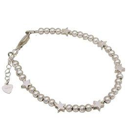 KAYA sieraden Zilveren armband 6 sterren