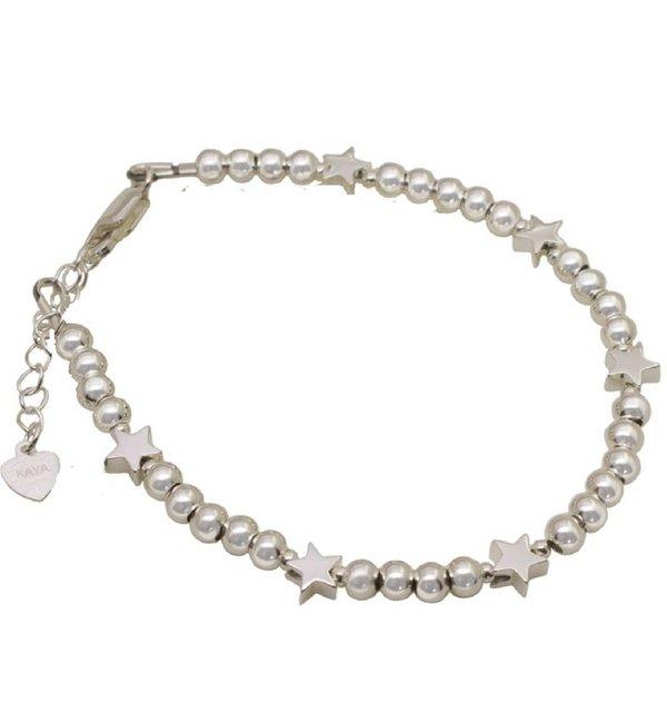 KAYA sieraden Zilveren Armband 'Cute Stars'