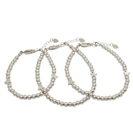 KAYA sieraden Three generation bracelets set 'cute balls' - with 2 stars - Copy