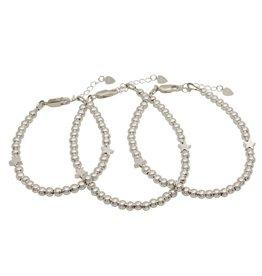 Three generation bracelets set 'cute balls' - with 2 stars - Copy
