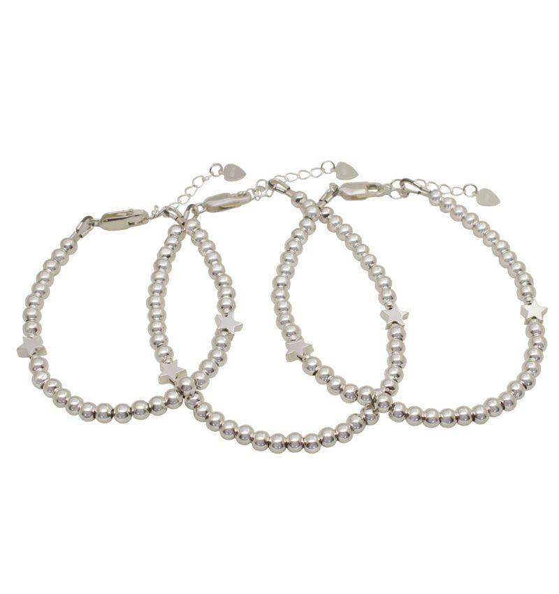 KAYA sieraden Drie generatie armbanden set 'cute balls' - sterren