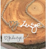 Necklace with own handwriting - silver