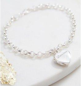 KAYA sieraden Zilveren  armband 'medaillon'
