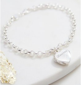 "Personalized silver bracelet 'Love you Infinitely "" - Copy - Copy - Copy"