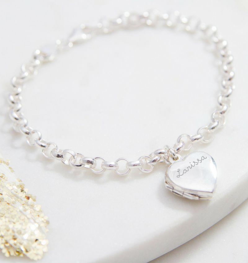 """Personalized silver bracelet 'Love you Infinitely """" - Copy - Copy - Copy"""