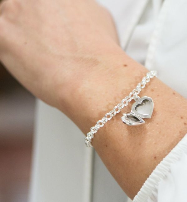 Sieraden graveren Jasseron Armband 'Hart Medaillon'