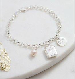 KAYA sieraden Zilveren  armband 'bijbel'