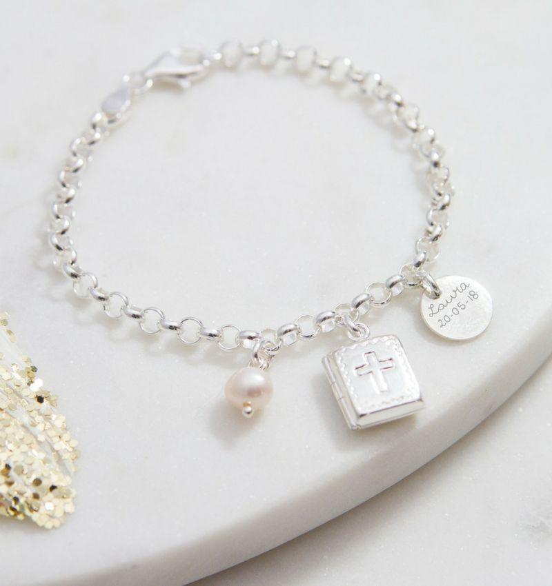 KAYA Zilveren jasseron armband 'bijbel'