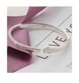 juwelierL Zilveren bangle 'Cuff' met gravure