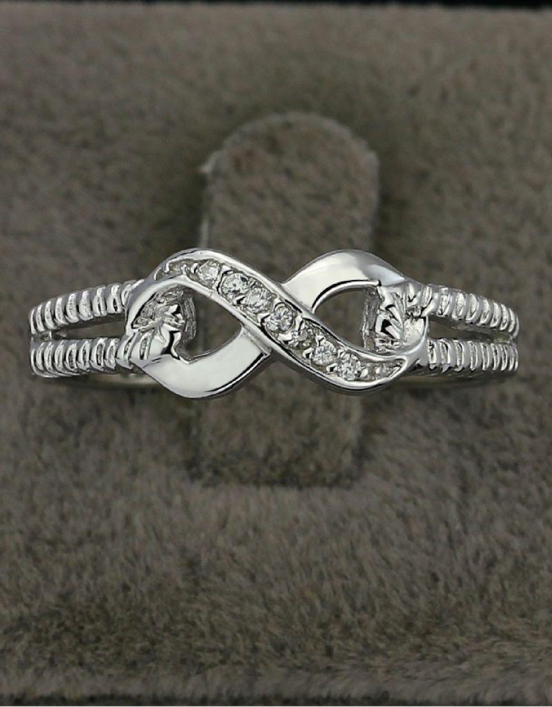 KAYA Zilveren ring 'Infinity Crystal' met swarovski stenen