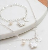 KAYA sieraden Zilveren jasseron armband + ketting 'bijbel'