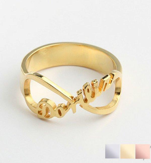 Gegraveerde sieraden Zilveren Ring 'Infinity' met Naam