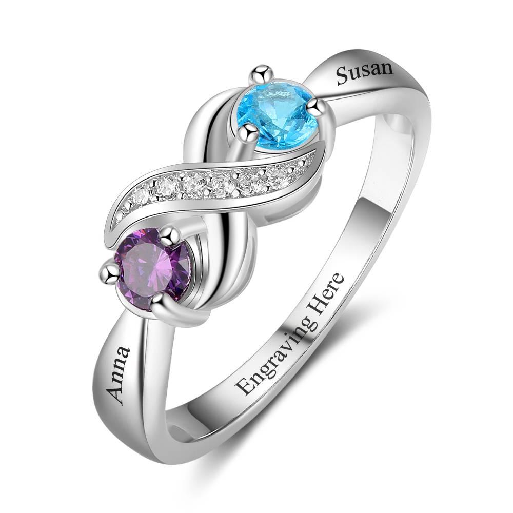 Ring graveren, extra persoonlijk met namen en geboortedata