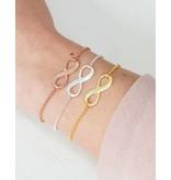 Sieraden graveren Zilveren Armbandenset 'Infinity' met gravure