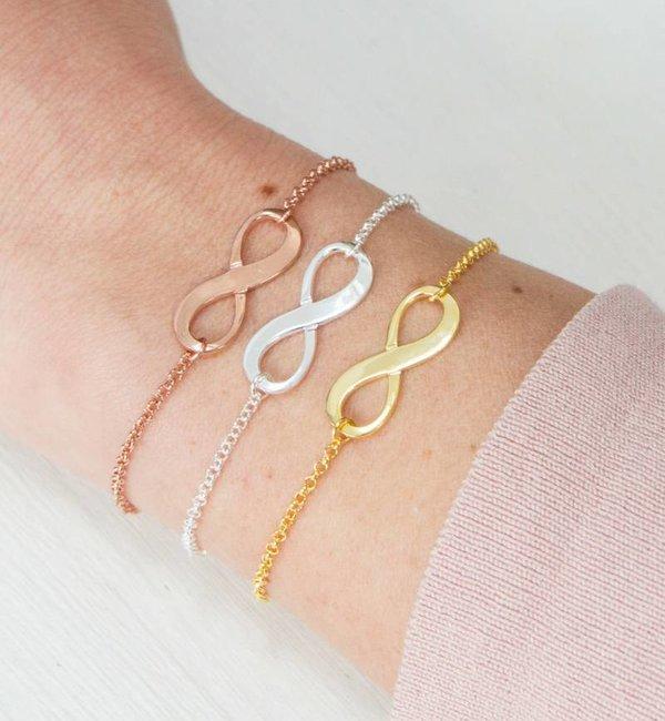 Sieraden graveren Armbandenset 'Infinity' met Gravure