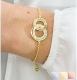 handgravure Personalized bracelet 'Entwined'