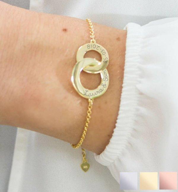 Sieraden graveren Personalized bracelet 'Entwined'