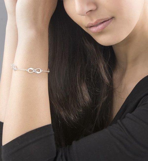 Sieraden graveren Armband 'Infinity' 4 Namen