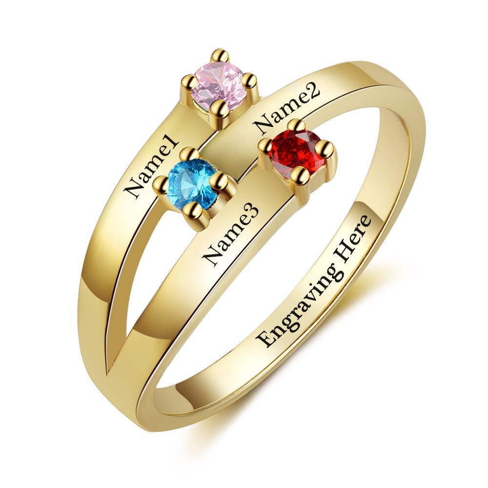 Personalized ring 'three kids'