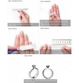 Gepersonaliseerde sieraden Zilveren Gepersonaliseerde Ring 'Delicate' met Geboortestenen en Gravure