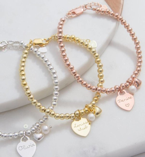 KAYA sieraden Silver set Cute Balls + Speechless with engraving bed