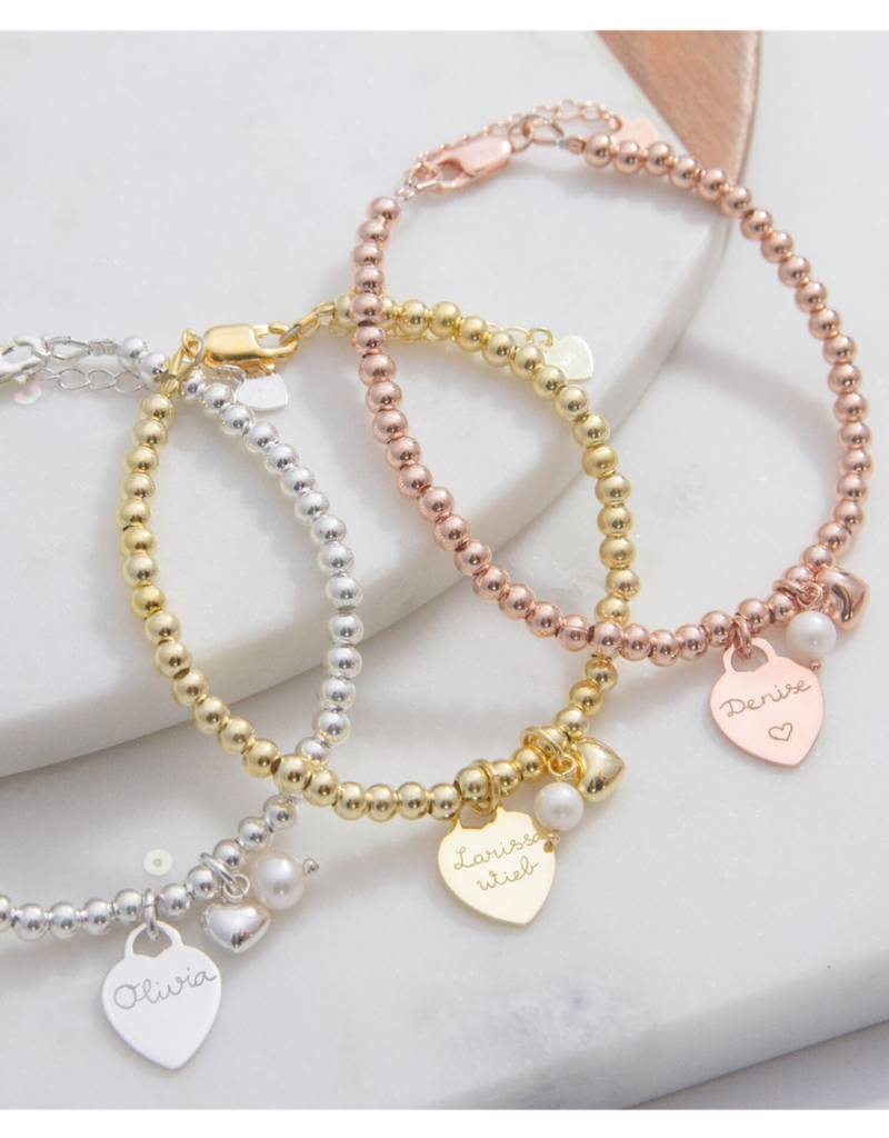 Silver bracelets set 'Cute Balls' for mother and daughter - Copy - Copy